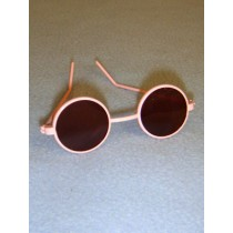 "3"" Pink Round Sunglasses"