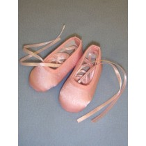 "3"" Pink Satin Ballet Slippers"