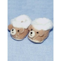 "3"" Teddy Bear Slippers for 18-20 Dolls"