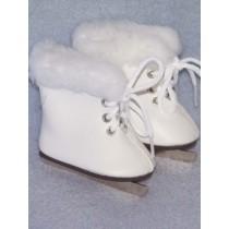 """3"""" White Ice Skates w_Fur"""