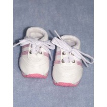 "3"" White w_Pink Mini Sketz Shoe"
