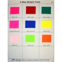 4-Way Stretch Tricot Sample Card