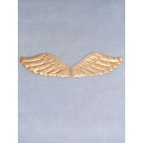 "4 1_2"" x 2"" Gold Puffy Angel Wings - 2 pcs"
