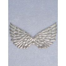 """4 3_4"""" Silver Embossed Angel Wing - Pkg_2"""