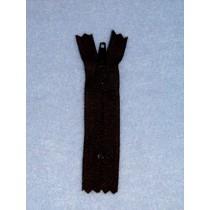 """4"""" Black Doll Zipper"""