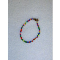 "|4"" Mixed Glass Bead Ankle Bracelet"