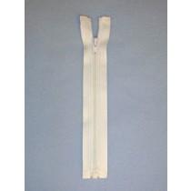 "6"" White Separator Zipper"
