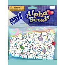 6mm Heart Shaped Alpha Beads 160 pcs