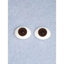 6mm Oval Flat Glass Eye - Brown