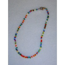 "7 1_2"" Mixed Glass Bead Necklace"