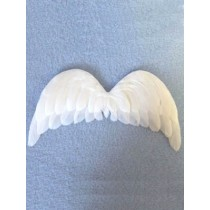 "7"" x 4"" White Feather Angel Wings - 1 pc"