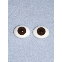 8mm Brown Flat Back Glass Eyes