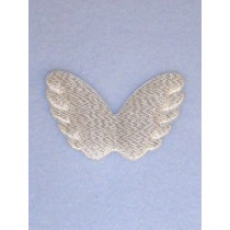 "Angel Wings - 2 1_4"" Silver - Pk_4"