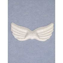 "Angel Wings - 3 3_4"" White Iridescent"