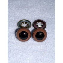 Animal Eye - w_Metal - 10mm Brown Pkg_100