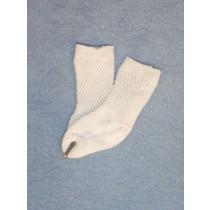 "Anklet - Patterned - 15-18"" White 2"