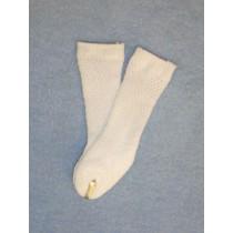 "Anklet - Patterned - 18-20"" White 4"