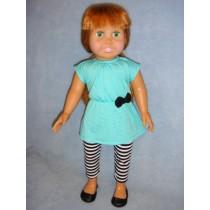 |Aqua Tunic & Striped Leggings