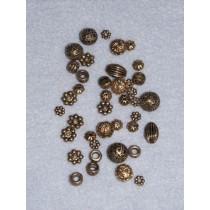 Asst Gold Spacers - Pkg_40
