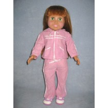 "|Athletic Suit & Shoes for 18"" Doll"