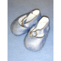 Baby Blue Fancy Ankle Strap Shoe - 3 3_8