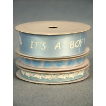 Baby Feet Ribbon - Blue - pkg_3 Spools