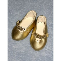 "Beaded Party Shoes - 3"" Gold"