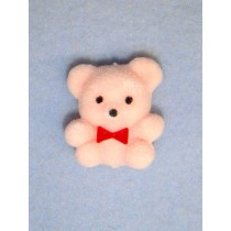 "Bear - 1"" Flocked - Pink"