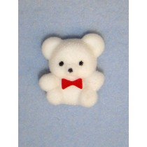 "Bear - 1"" Flocked - White"