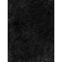 Black Shaggy Cuddle Fabric - 1 Yd