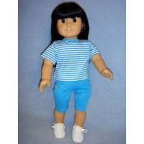 "Blue Bike Shorts for 18"" Dolls"