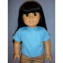 """Blue 'Design Your Own' T-Shirt for 18"""" Dolls"""