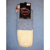 Blue Red Heel Socks (Large) Pkg_4 Socks