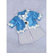 Blue_White Striped Dress w_Blue Jacket