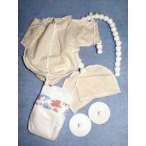 """Body -Pre-sewn w_Armature -24"""" Baby"""