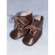 "Boots - Lace-Up - 3"" Brown"