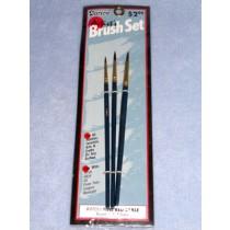 Brush Set - #1,3 & 5 Round