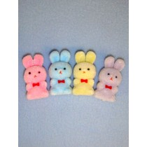"|Bunnies - 1 1_2"" Flocked - Pkg_12  Assorted Pastels"