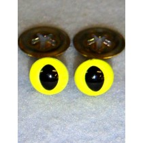 Cat Eye - 15mm Bright Yellow Pkg_100