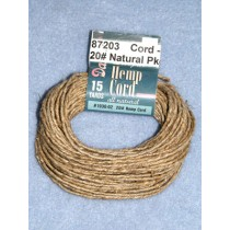 Cord - Hemp - 20# Natural Pkg_15 yd