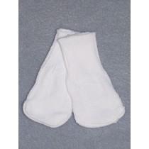"""Cotton Socks for 18"""" Dolls - White"""