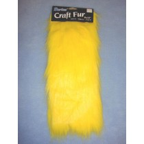 "Craft Fur - Yellow 9"" x 12"