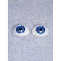 Doll Eye - 12mm Blue Flat Back 2 Pr