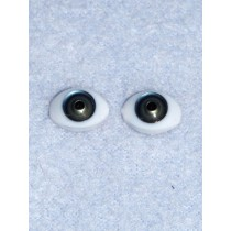 Doll Eye - 12mm Blue_Green Flat Back 2 Pr
