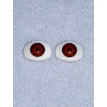 Doll Eye - 12mm Brown Flat Back 2 Pr