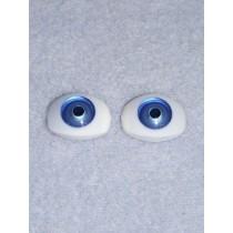 Doll Eye - 15mm Blue Flat Back 2 Pr