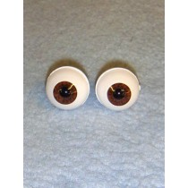 Doll Eye - Real Eyes - 16mm - Dark Brown