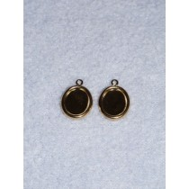 Earring Settings for Cameos - Gold - Pk_4