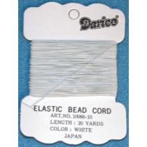 Elastic Thread - White - Pkg_20 Yds