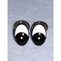 Eye - Oval 10mm Black_White Pkg_50